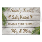 Sun Kissed Sandy Toes Salty Kisses Thank You Card