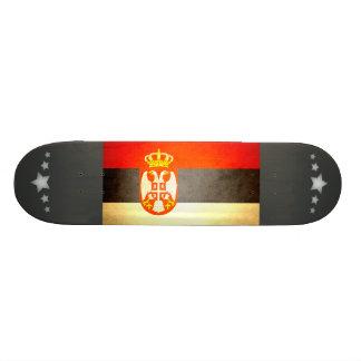 Sun kissed Serbia Flag Skate Deck