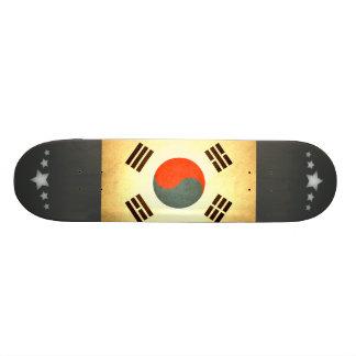 Sun kissed South Korea Flag Custom Skate Board