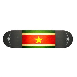 Sun kissed Suriname Flag Skate Board