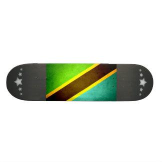 Sun kissed Tanzania Flag Skate Board Deck