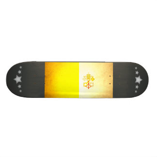 Sun kissed Vatican City Flag Custom Skate Board