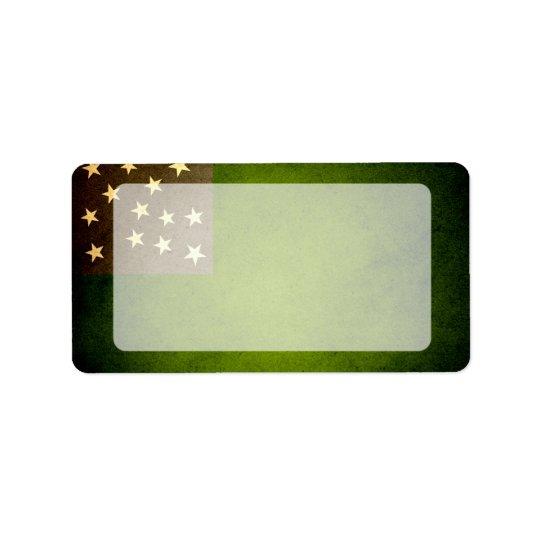 Sun kissed Vermont Republic Flag Label