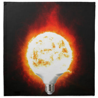 Sun Lightbulb Napkin