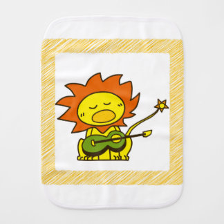 Sun lion burp cloth