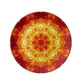 Sun Lotus Mandala Plate