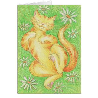 """Sun Lover """"Purrfect Day"""" greetings card"""