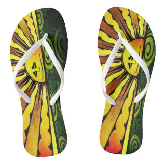 Sun Man Flip Flops