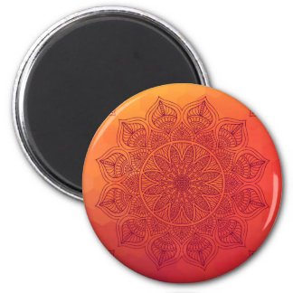Sun mandala 6 cm round magnet