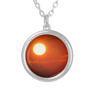SUN Mandala Shine Power Source Energy Silver Plated Necklace