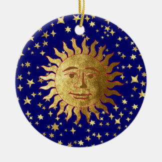 Sun, Moon and Stars Ceramic Ornament