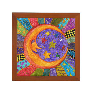Sun, Moon and Stars Desk Organizer