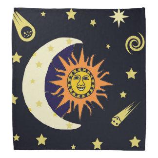 Sun Moon and Stars Head Kerchiefs