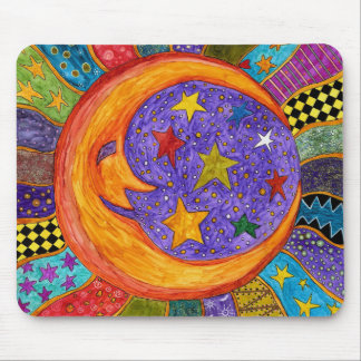 Sun, Moon and Stars Mouse Pad