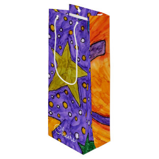 Sun, Moon and Stars Wine Bag (You can Customise)