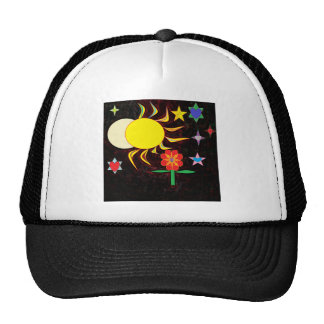 sun moon flower cap