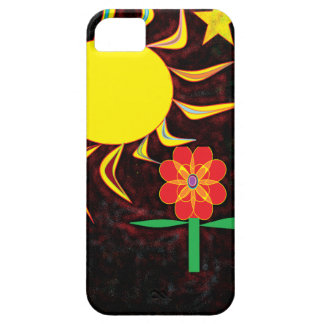 sun moon flower iPhone 5 case