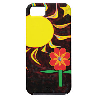 sun moon flower iPhone 5 cover
