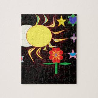 sun moon flower jigsaw puzzle