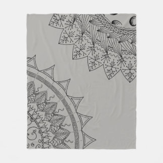 Sun & Moon Mandala Fleece Blanket