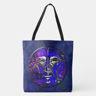 Sun Moon Prayer New Age Folk Tote Bag