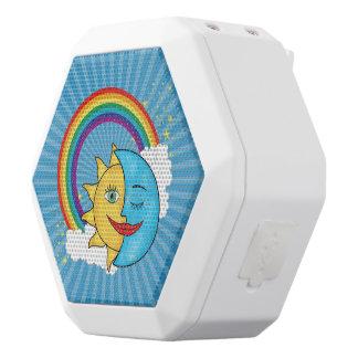 Sun Moon Rainboow Celestial theme White Boombot Rex Bluetooth Speaker