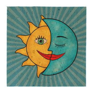 Sun Moon Rainboow Celestial theme Solar Rays Drink Coasters