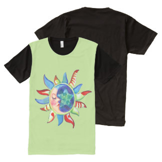 SUN, MOON & STARS by SHARON SHARPE All-Over Print T-Shirt