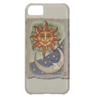 Sun Moon & Stars Cover For iPhone 5C