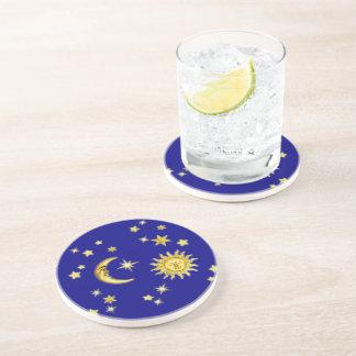 Sun, Moon & Stars Beverage Coaster