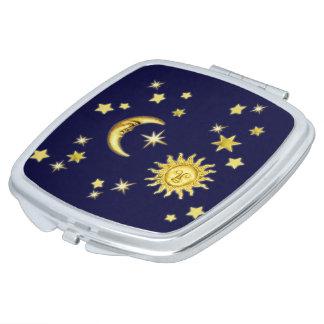 Sun, Moon & Stars Compact Mirror