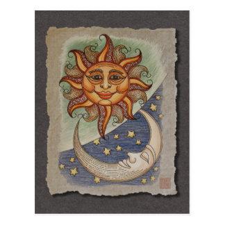 Sun Moon & Stars Postcard