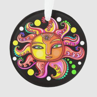 Sun Moon Stars Sunface Ornament
