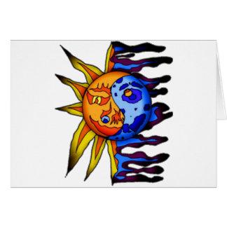 Sun / Moon Yin Yang Card