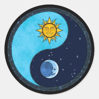 Sun Moon Yin Yang Classic Round Sticker
