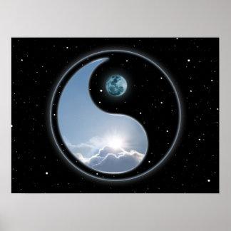 Sun-Moon Yin Yang Posters