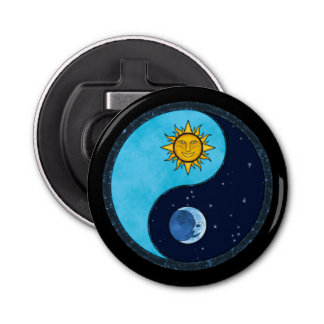 Sun Moon Yin Yang Symbol Bottle Opener