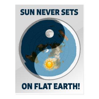 Sun Never Sets on Flat Earth! Postcard