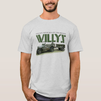 Sun Never Sets on Willys Light Colored Shirt