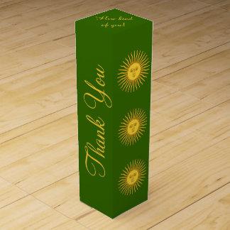 Sun of May Motif Wine Gift Box