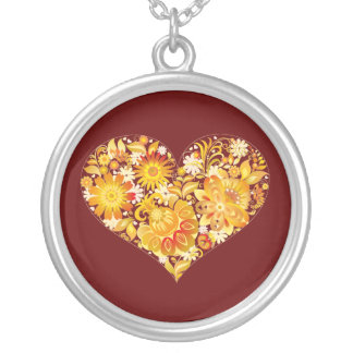 Sun of St. Valentine's day - Round Pendant Necklace