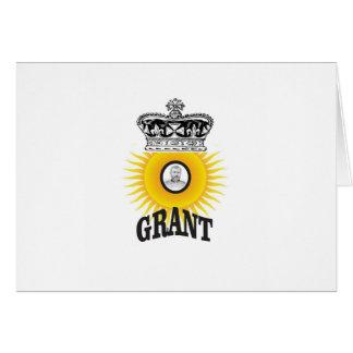 sun oval king grant card