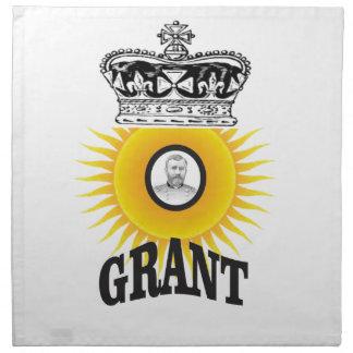 sun oval king grant napkin