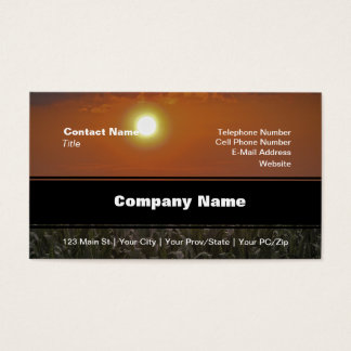 Sun Over a Corn Field Business Card