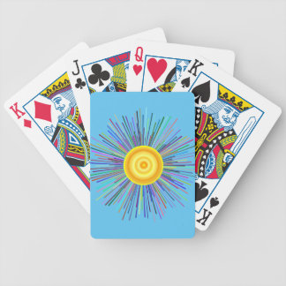 Sun Over The Moon Rainbow Fractal Bicycle Playing Cards