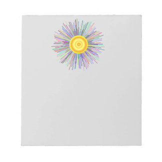 Sun Over The Moon Rainbow Fractal Notepads