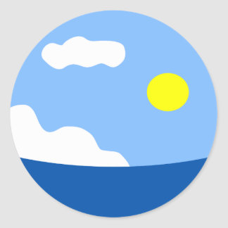 Sun Over the Ocean Sticker