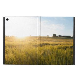 Sun over wheat field iPad air cases