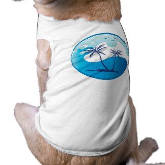 sun-palm-tree-vector-2 sleeveless dog shirt