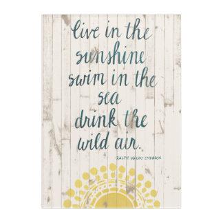 Sun Quote IV Acrylic Wall Art